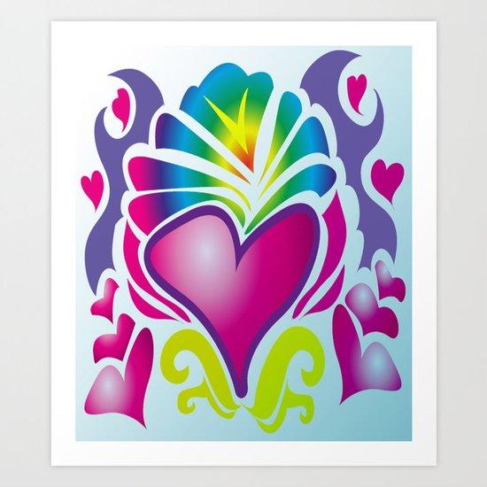 heart of soul Art Print
