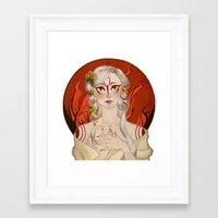okami Framed Art Prints featuring Okami: Amaterasu by Laurie 鳳玲