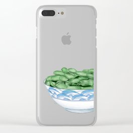 Boiled Green Soybeans | 盐水毛豆 Clear iPhone Case