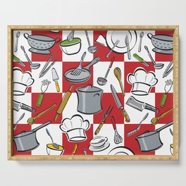 Kitchen Tools Check Serving Tray
