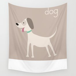 D for Dog Wall Tapestry
