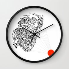 the Fingerprint Wall Clock