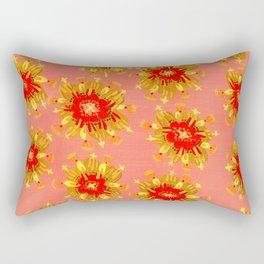 Golden Apricot Rose Rectangular Pillow