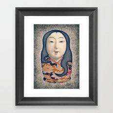 Matrioska japonesa Framed Art Print