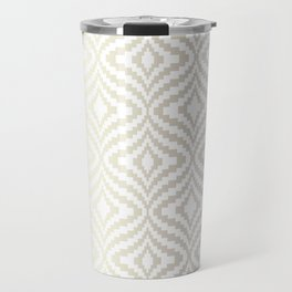 Silver Bargello Geometric Travel Mug