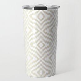 Silver Bargello Geometric Travel Mug