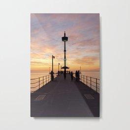 Brighton Jetty Sunset Metal Print