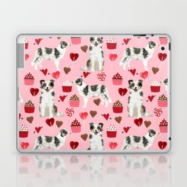 Border Collie valentines day cupcakes love hearts dog breed gifts collies herding dogs pet friendly Laptop & iPad Skin