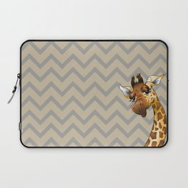 Chevron Giraffe! Laptop Sleeve