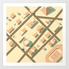 axonometric city Art Print