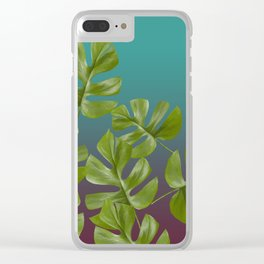 Monstera LEAFS Clear iPhone Case