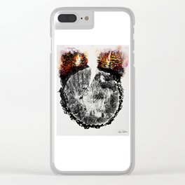 Burning Forest Clear iPhone Case