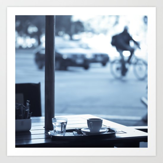 Street Coffee (Retro and Vintage Urban photography) Art Print