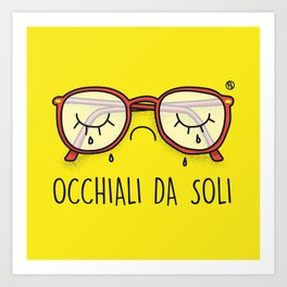 Occhiali da Soli Art Print