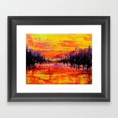 Northwoods Sunset Framed Art Print