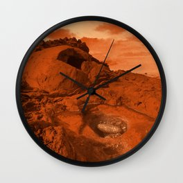 Mars landscape Wall Clock