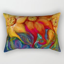 Three Sunflowers Rectangular Pillow