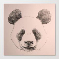 pink panda Canvas Print