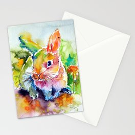 Colorful rabbit Stationery Cards