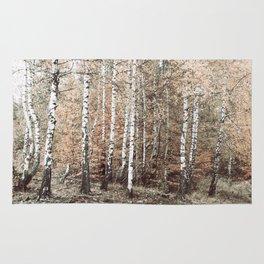 birch forest Rug