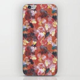 Orange floral pattern iPhone Skin