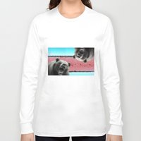 bears Long Sleeve T-shirts featuring Bears by Mary Lo