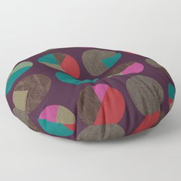 dots and shreds and colors Floor Pillow