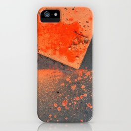 NVSV SPCS_orange concrete iPhone Case