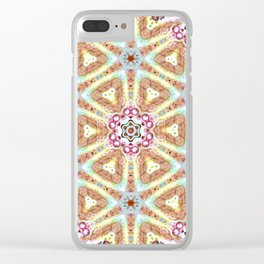 Mandala Maze Clear iPhone Case