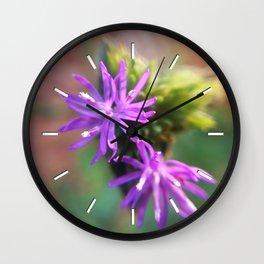 Cute Purple Flowers Wall Clock