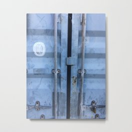 Shipping Container Doors Metal Print
