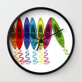 Kayak Boat Kayaker Or Canoeist Gift Wall Clock