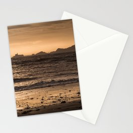 Swansea bay and Mumbles lighthouse Stationery Cards