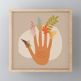 The Hand of Nature Framed Mini Art Print