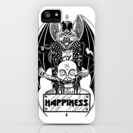HAPPINESS (horror bat) iPhone Case
