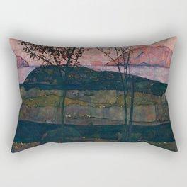 "Egon Schiele ""Setting Sun"" Rectangular Pillow"