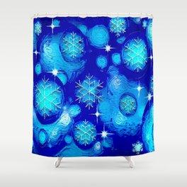 FROSTY BLUE Shower Curtain