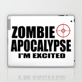 zombie funny sayings and logos Laptop & iPad Skin