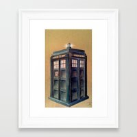 tardis Framed Art Prints featuring TARDIS by Jordan