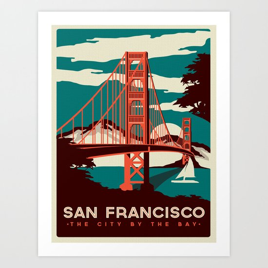 Vintage poster - San Francisco by mosfunky