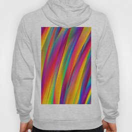 Abstract Colorful Decorative Wavy Pattern Hoody