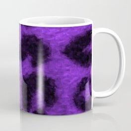 Spotted Leopard Purple Coffee Mug