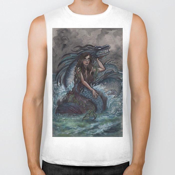Mermaid and Sea Dragon Biker Tank