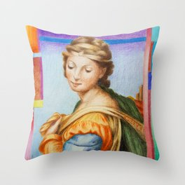Sta Barbara. after Raphael Throw Pillow