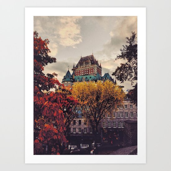 Fall Chateau Art Print