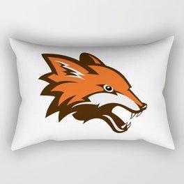 Angry fox illustration Rectangular Pillow