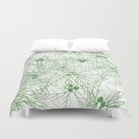 palm tree Duvet Covers featuring palm tree by mondebettina