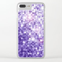 Ultra Violet Purple Glitter Clear iPhone Case