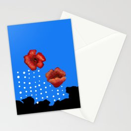 Coquelicot et larmes bis Stationery Cards