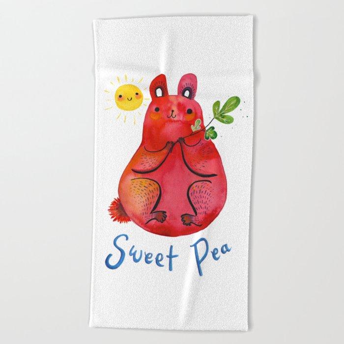 Sweet Pea Beach Towel By Jenniferprior